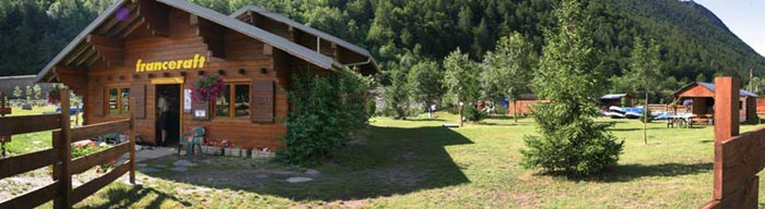 Franceraft rafting base in Centron in Savoie
